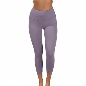 90 Degree Women's Lilac Lavender Cropped Leggings
